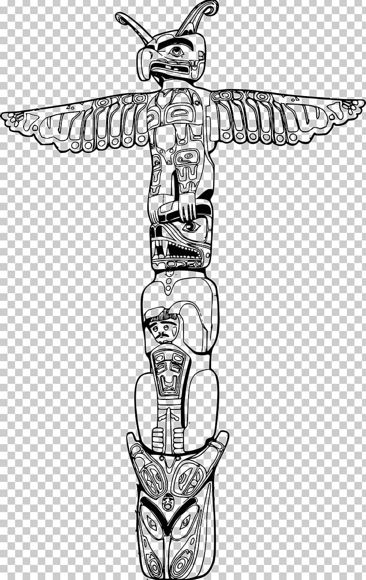 Totem Pole PNG, Clipart, Arm, Art, Artwork, Black And White
