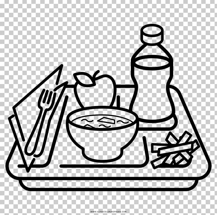 Tray Food Coloring Book Drawing Restaurant PNG, Clipart, Artwork, Black And White, Cafe, Cafeteria, Cantina Free PNG Download