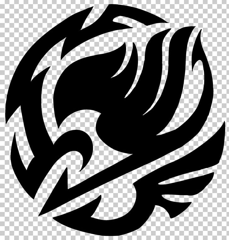 Fairy Tail Tattoo Png Clipart Anime Art Black And White