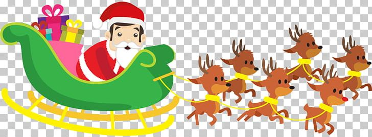 Reindeer Santa Claus Christmas PNG, Clipart,  Free PNG Download