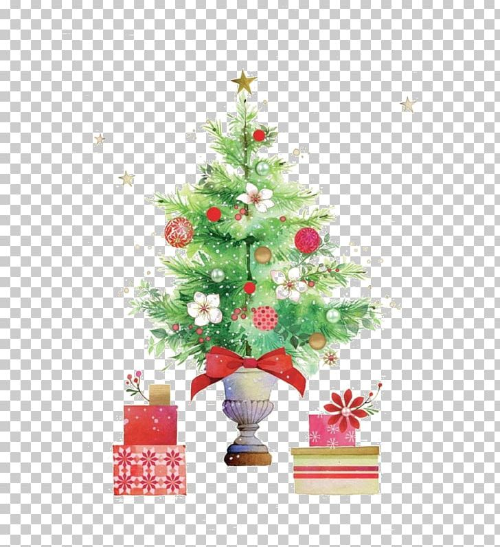 Christmas Tree Santa Claus Christmas Ornament Christmas Decoration PNG, Clipart, Bow, Christmas, Christmas Card, Christmas Decoration, Christmas Frame Free PNG Download