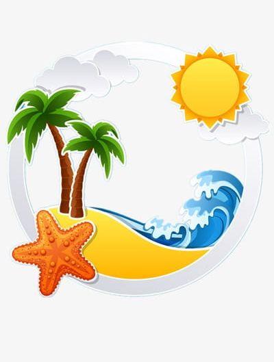 Beach summer. Png clipart cartoon