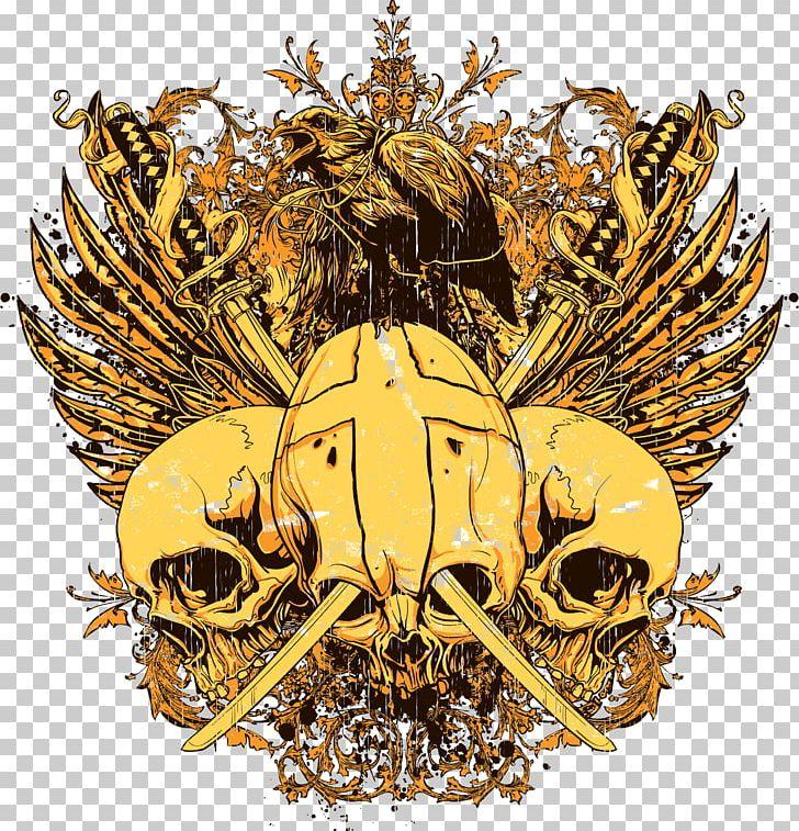 cbaf0b1ba Printed T-shirt Skull PNG, Clipart, Brass, Clothing, Designer, Eagle ...