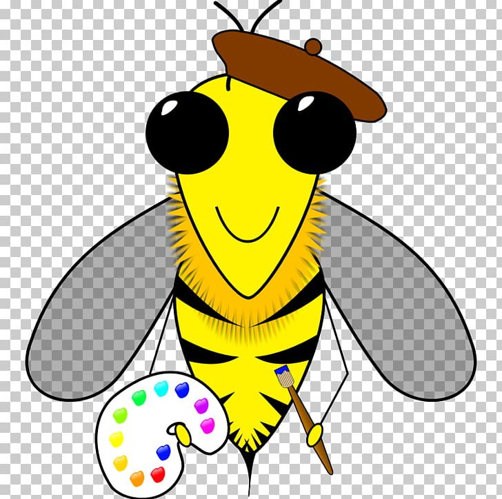 Honey Bee Insect Beehive Png Clipart Art Artwork Bee Bee Free Honee Beehive Free Png Download
