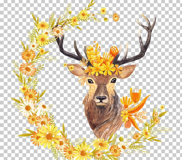Autumn Leaf Color Free Fall Watercolor Painting Printing PNG, Clipart, Animals, Antler, Art, Autumn, Branch Free PNG Download