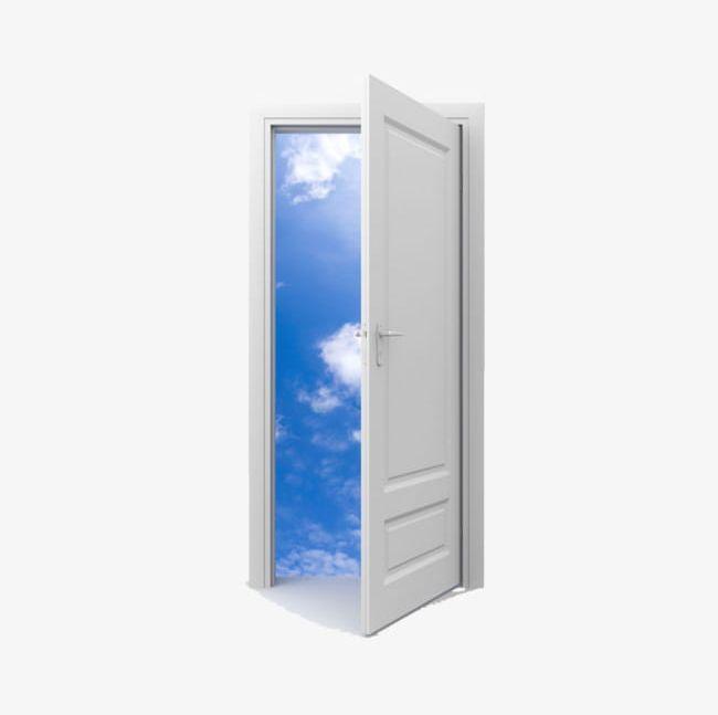 Open Door Png Clipart Blue Clouds Half Free