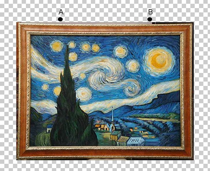 The Starry Night Oil Painting Artist PNG, Clipart, Art