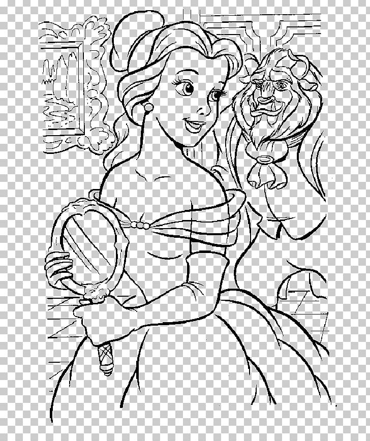 Belle Beast Coloring Book Drawing Line Art Png Clipart Arm