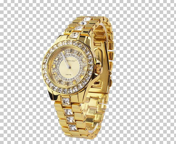 Watch Quartz Clock Gold PNG, Clipart, Accessories, Apple Watch, Clock, Diamond, Fashion Accessory Free PNG Download