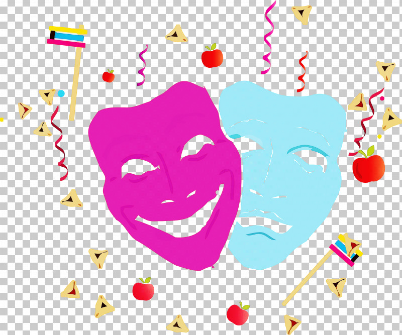 Purim Jewish Holiday PNG, Clipart, Cheek, Facial Expression, Happy, Heart, Holiday Free PNG Download