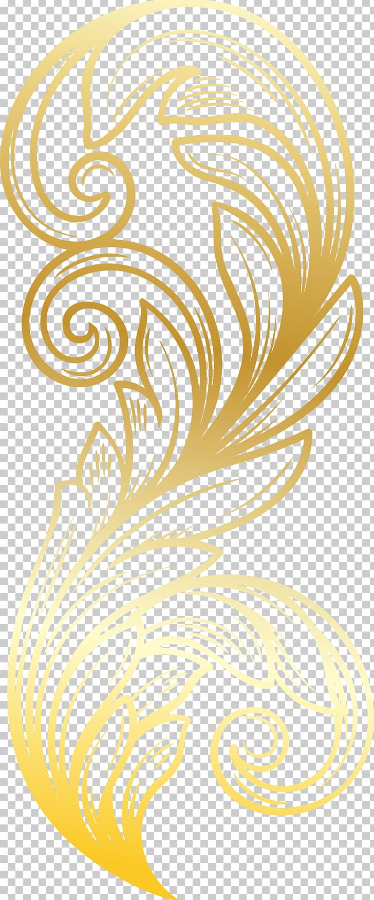 Feather Gold PNG, Clipart, Animals, Atmosphere, Botany, Circle, Decorative Free PNG Download