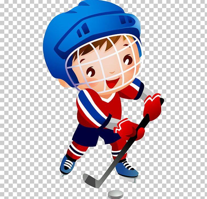 Ice Hockey Player Hockey Helmets Png Clipart Ball Baseball Equipment Boy Cartoon Child Free Png Download