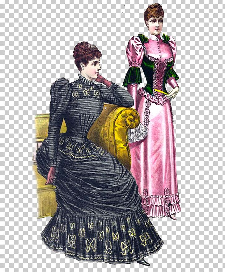 Victorian Era Victorian Fashion Clothing PNG, Clipart, Clip Art, Clothing, Costume, Costume Design, Drawing Free PNG Download
