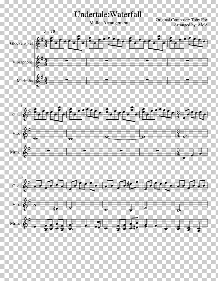 Sheet Music Instant MuseScore Undertale Piano PNG, Clipart