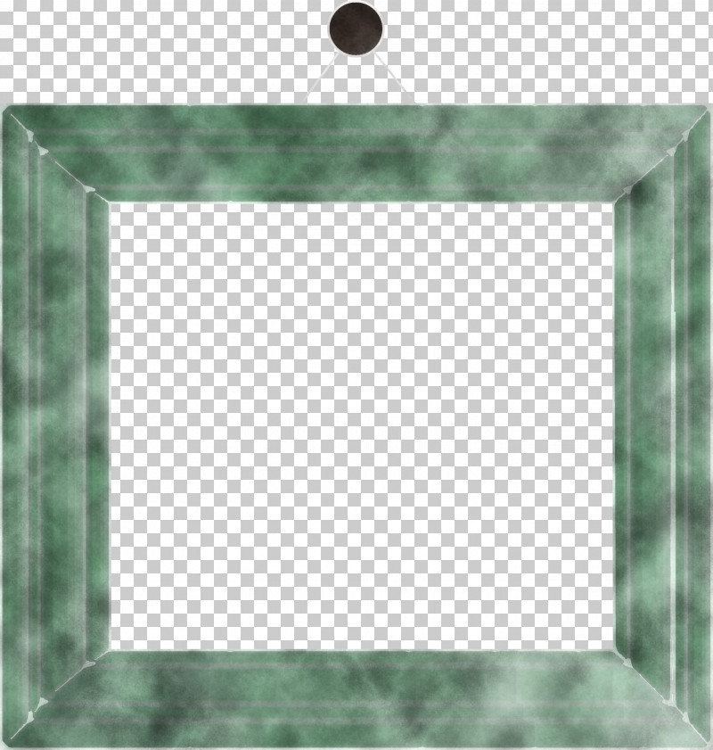 Photo Frame Picture Frame Hanging Photo Frame PNG, Clipart, Green, Hanging Photo Frame, Photo Frame, Picture Frame, Rectangle Free PNG Download