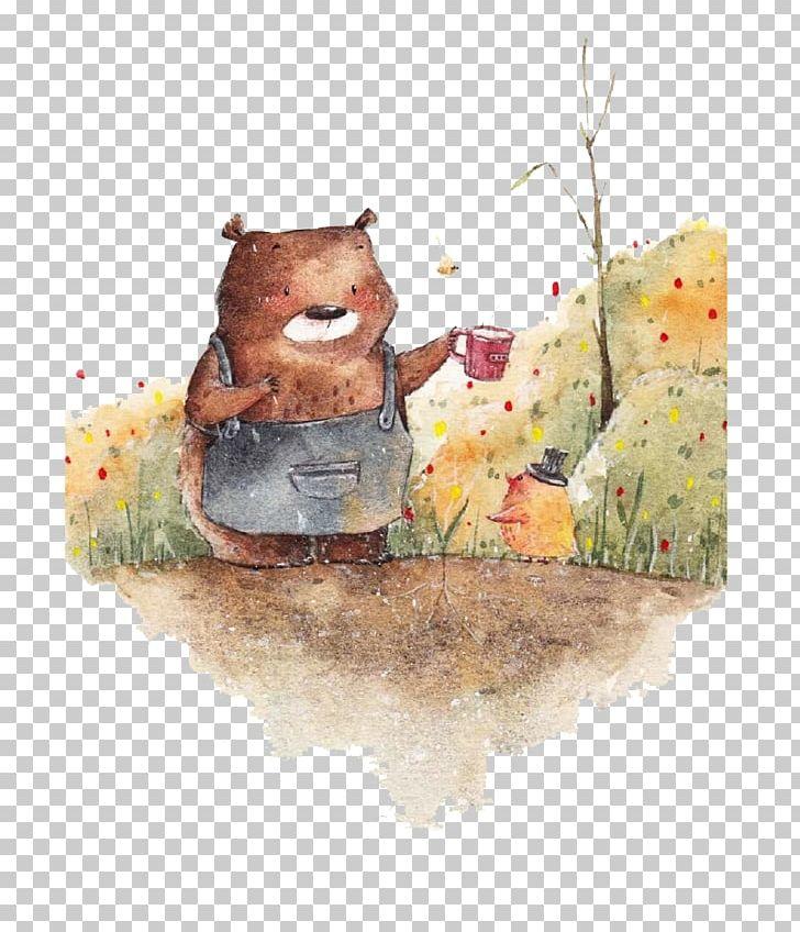 Watercolor Painting Illustration PNG, Clipart, Adobe Illustrator, Animals, Art, Balloon Cartoon, Bear Free PNG Download