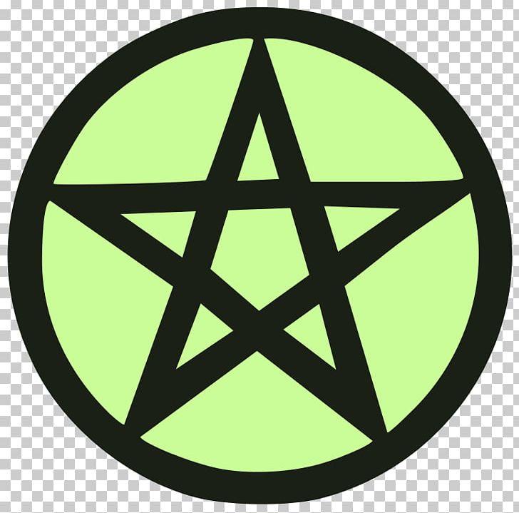 Pentagram Pentacle Symbol Wicca Satanism PNG, Clipart, Area, Baphomet, Circle, Drawing, Green Free PNG Download
