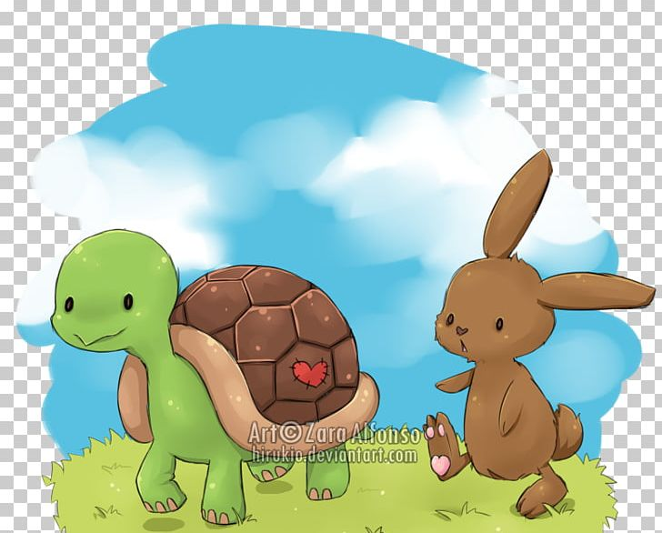 Rabbit Hare Easter Bunny Tortoise Turtle Png Clipart Animals
