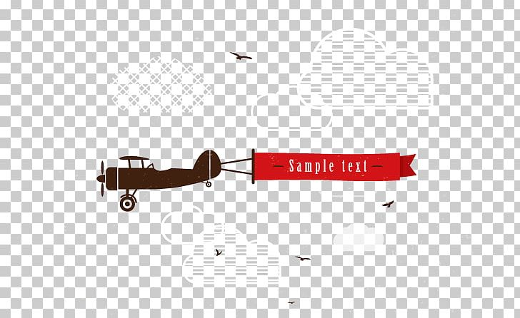 Airplane Banner Png Clipart Advertising Angle Cartoon Design