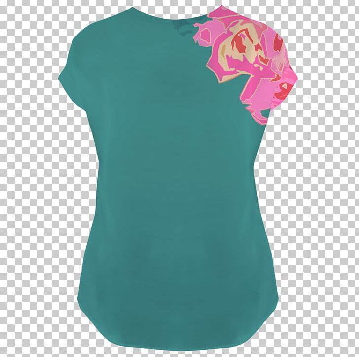 Sleeve T-shirt Shoulder Blouse Turquoise PNG, Clipart, Aqua, Blouse, Clothing, Green, Joint Free PNG Download