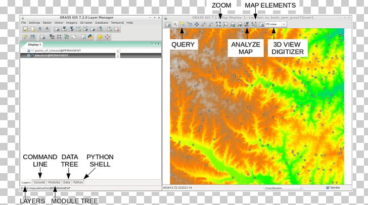 GRASS GIS Geographic Information System QGIS Web Map Service