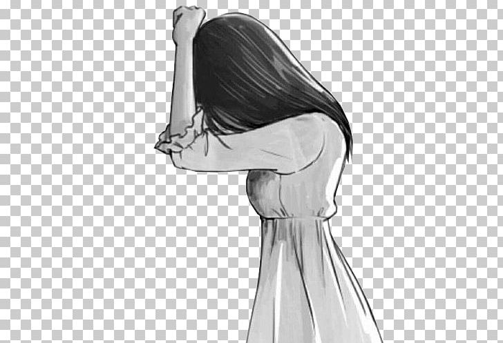 Drawing Anime Sadness Female Sketch PNG, Clipart, Animation