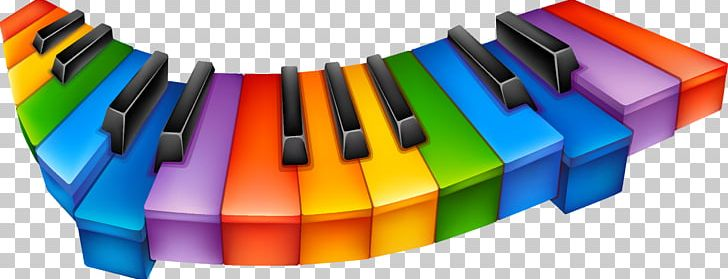 Piano colorful. Musical keyboard png clipart