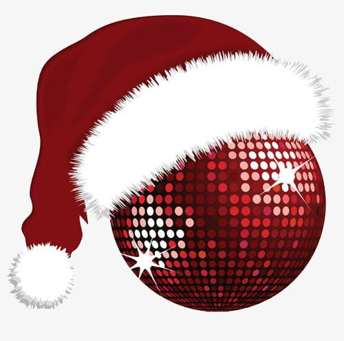 Christmas Disco Ball.Disco Ball Wearing Christmas Hats Png Clipart Ball Clipart