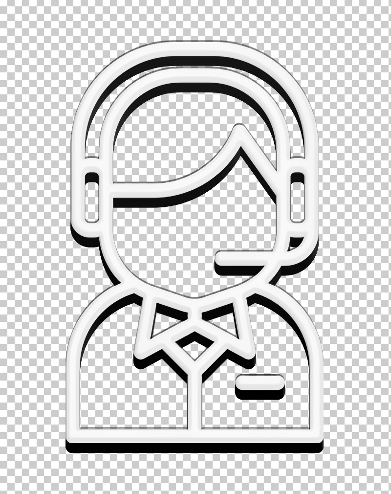 Customer Service Icon Operator Icon Support Icon PNG, Clipart, Black And White, Customer Service Icon, Headgear, Line, Line Art Free PNG Download
