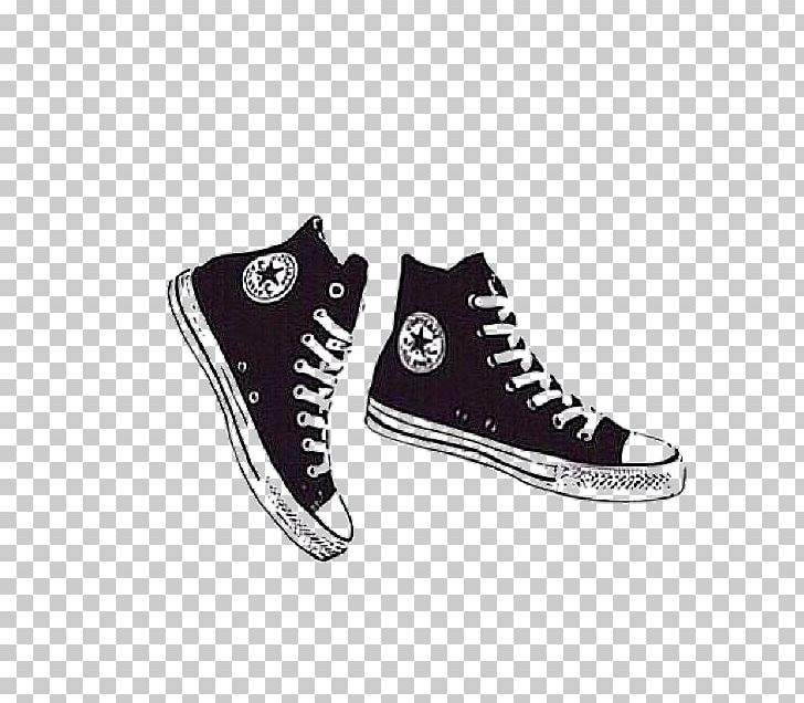 Converse Drawing Illustration Shoe PNG, Clipart, Art, Black
