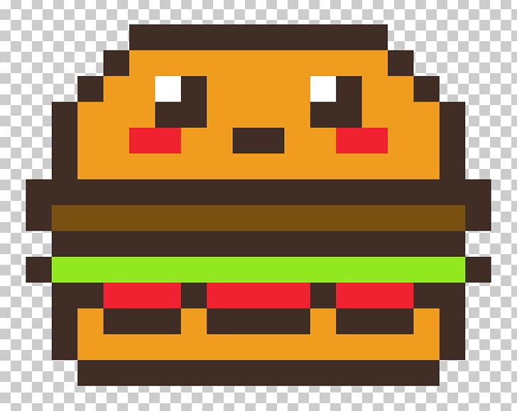 Hamburger French Fries Pixel Art Png Clipart Area Art