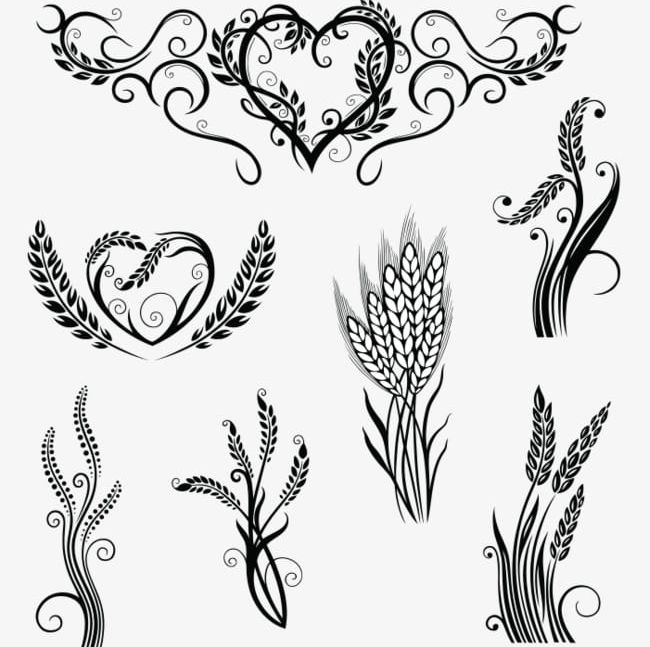Wheat Pattern PNG, Clipart, Arabesque, Decorative, Decorative Pattern, Foodstuff, Grain Free PNG Download