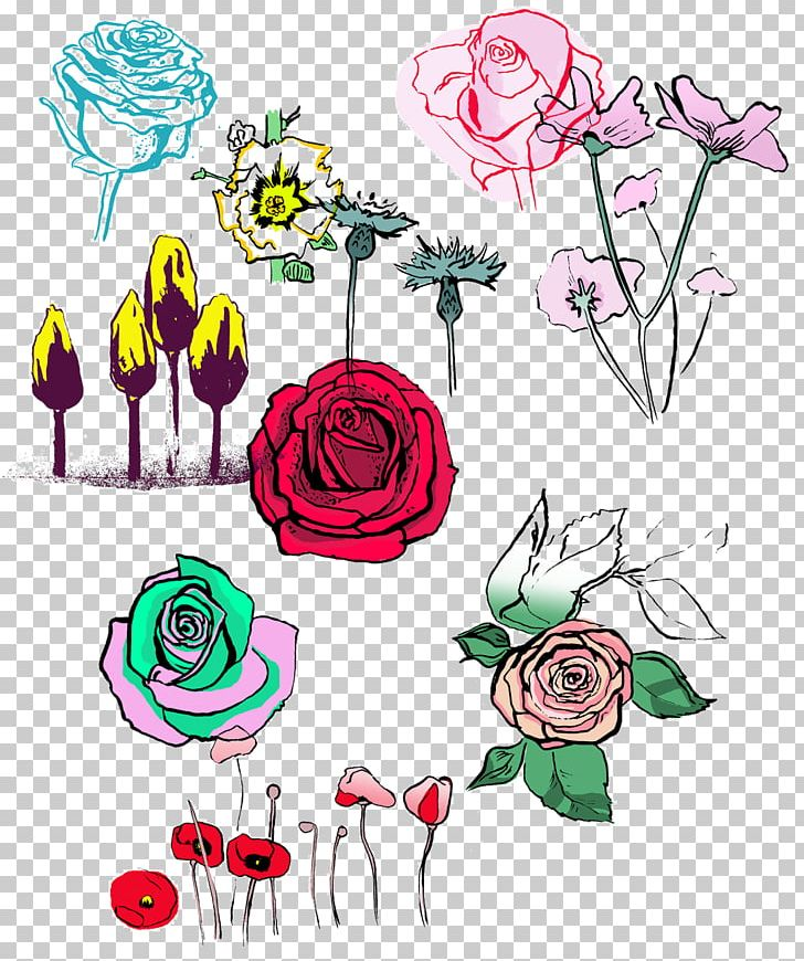 Floral Design Garden Roses Cut Flowers Flower Bouquet PNG, Clipart, Area, Art, Artwork, Cut Flowers, Drawing Free PNG Download