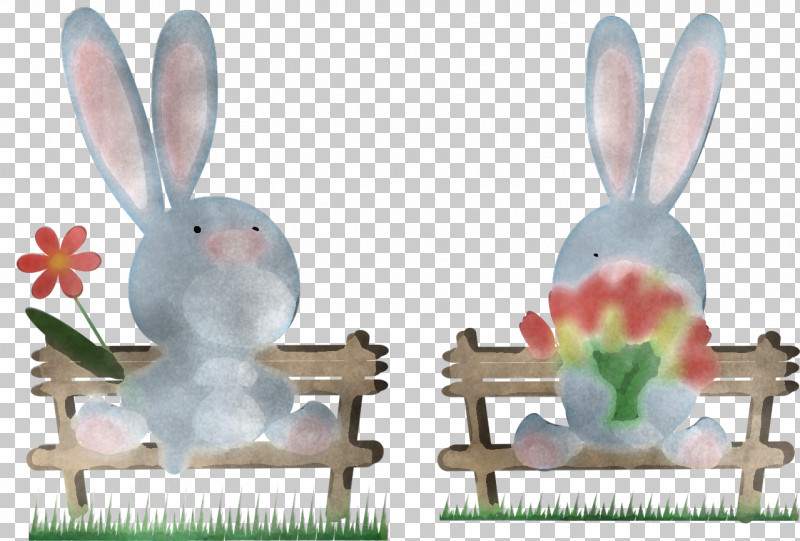 Rabbits And Hares Rabbit Hare Animal Figure Grass PNG, Clipart, Animal Figure, Figurine, Grass, Hare, Rabbit Free PNG Download