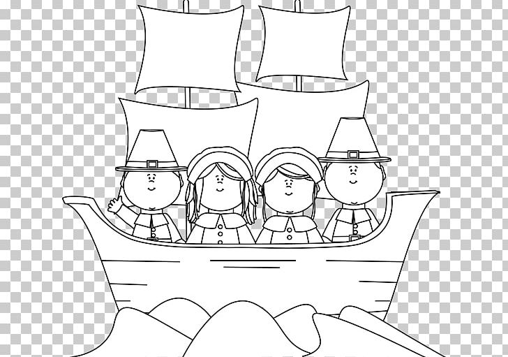 Plymouth Rock Pilgrims Mayflower Coloring Book Thanksgiving Png Clipart Free Png Download