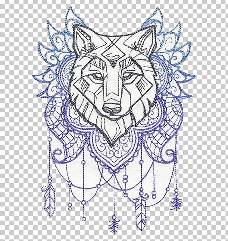 Gray Wolf Drawing Stencil Yarn Pattern Png Clipart