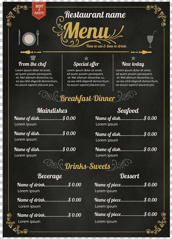Menu Hotel Recipe PNG, Clipart, 123rf, Blackboard, Blackboard Newspaper, Cafe, Drink Free PNG Download