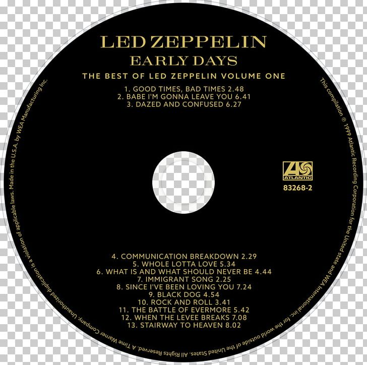 Compact Disc Early Days And Latter Days Latter Days: The Best Of Led