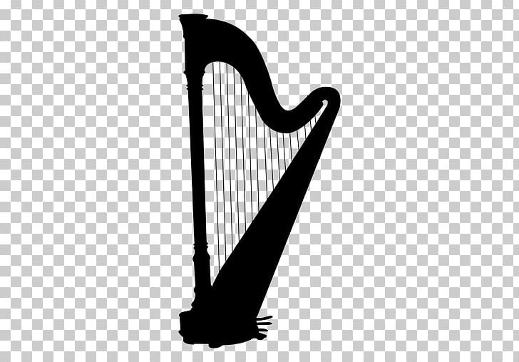 Celtic Harp Silhouette Musical Instruments PNG, Clipart, Alta, Black And White, Celtic Harp, Clarsach, Guitar Free PNG Download