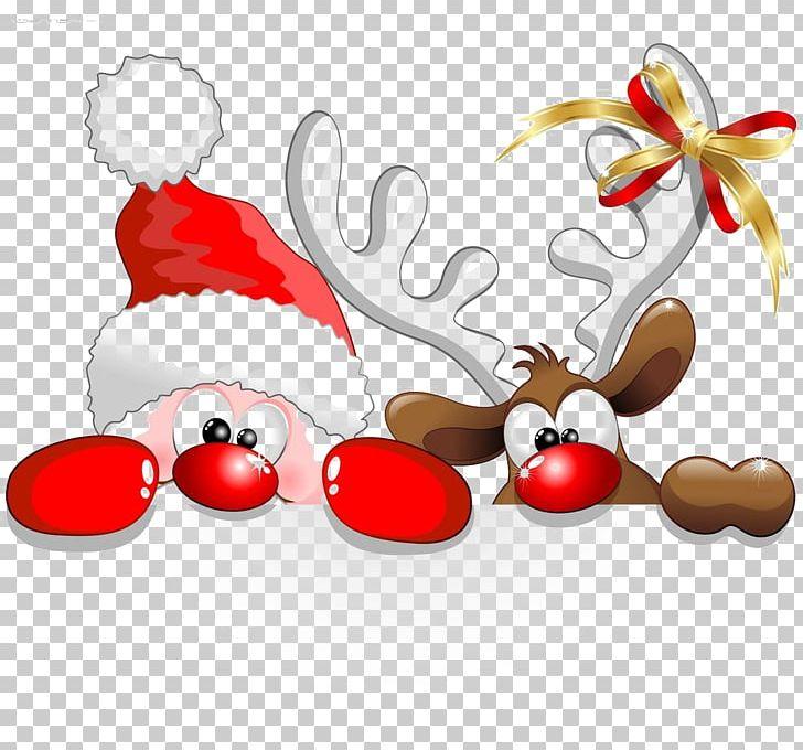 Santa Claus Reindeer Christmas Cartoon Png Clipart
