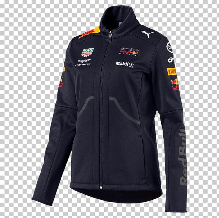 Red Bull Racing Scuderia Ferrari T-shirt Formula 1 Jacket PNG, Clipart, Black