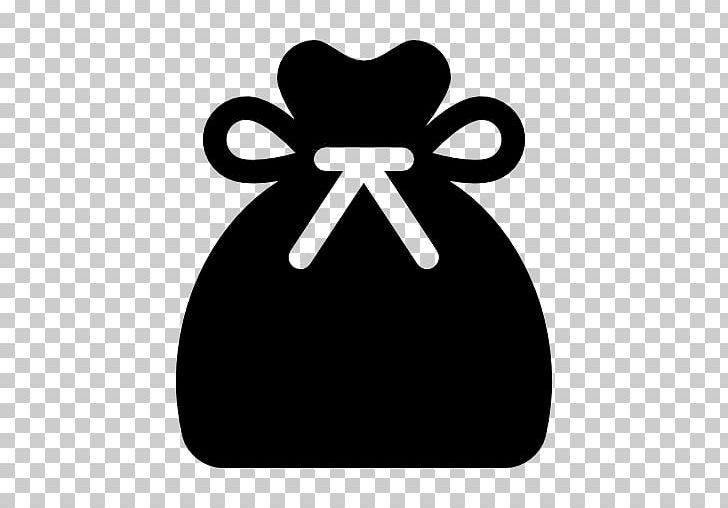 Santa Claus Computer Icons Bag Gift PNG, Clipart, Bag, Black, Black And White, Christmas, Christmas Gift Free PNG Download