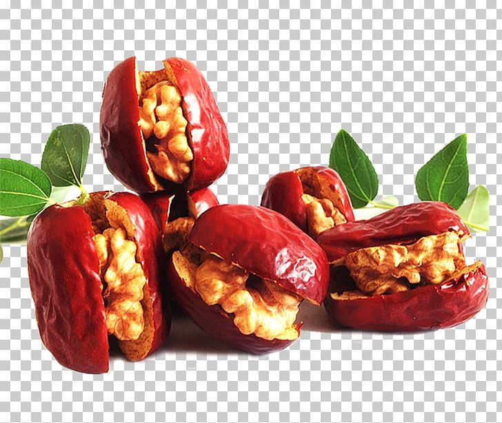 Shanxi Jujube Chinese Cuisine Walnut Dried Fruit Png Clipart