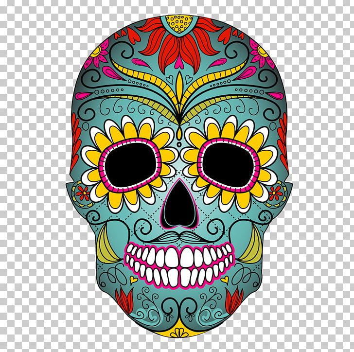 Calavera Cupcake Skull Day Of The Dead Mexican Cuisine PNG, Clipart, Bone, Cake, Calavera, Color, Cupcake Free PNG Download