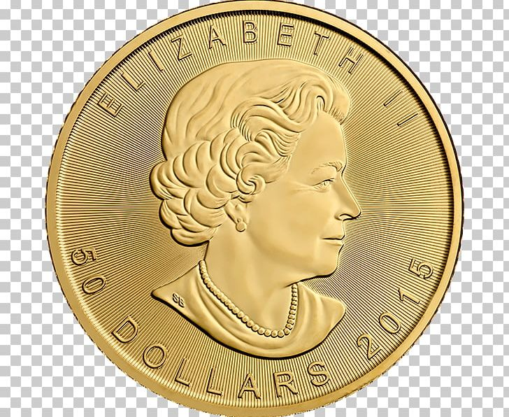 Canada Canadian Gold Maple Leaf Gold Coin Bullion Coin PNG