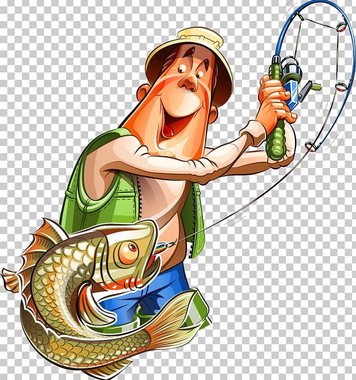 Fishing Cartoon Fisherman Png Clipart Art Cartoon Clip Art Drawing Fictional Character Free Png Download