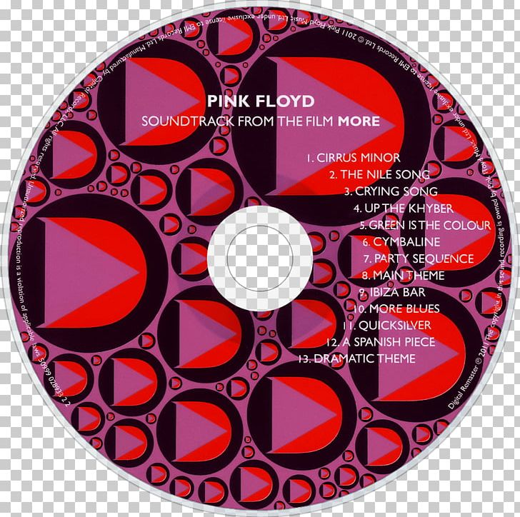 Compact Disc More Pink Floyd Music EMI Records PNG, Clipart