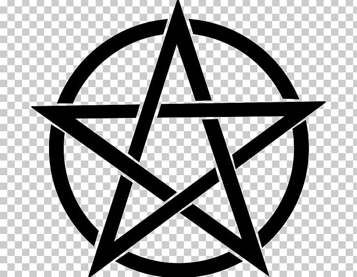 Pentagram Pentacle Wicca PNG, Clipart, Angle, Area, Baphomet, Black And White, Circle Free PNG Download