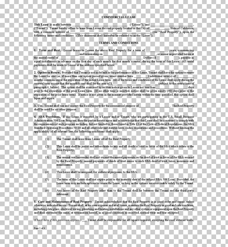 Rental Agreement Lease Contract Renting Document Png
