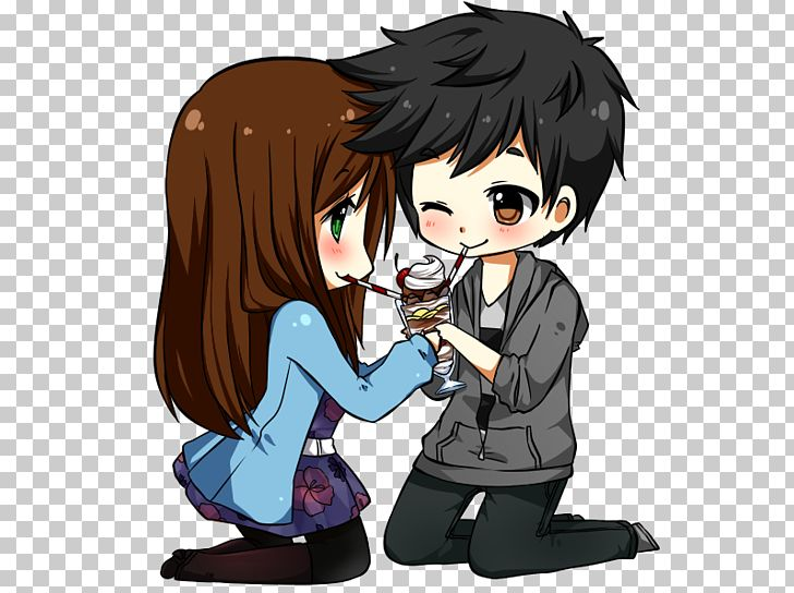 Anime Chibi Drawing Manga PNG, Clipart, Anime, Anime Couple, Art, Black, Black Hair Free PNG Download